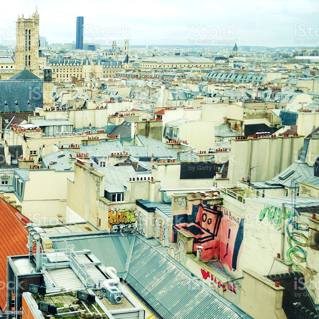 Rooftops Of Paris stock photo