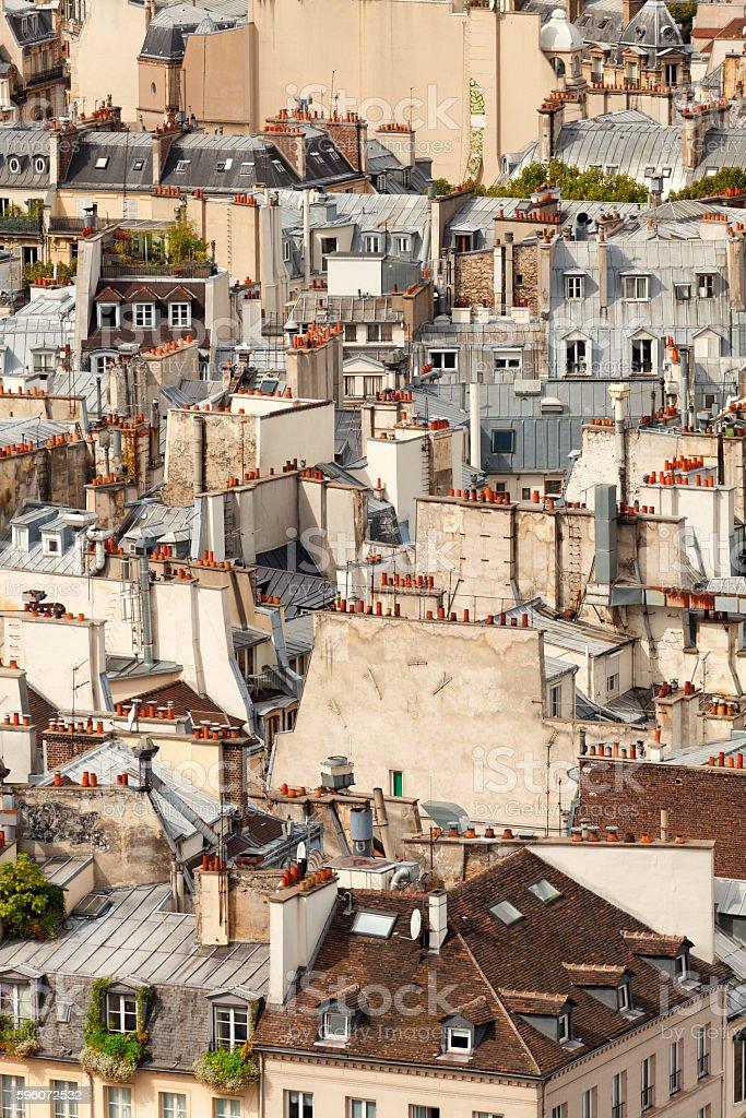 Rooftops of Paris stock photo
