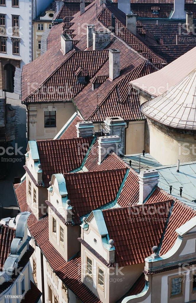 Rooftops of Prague in Czech Republic, Europe royalty-free stock photo