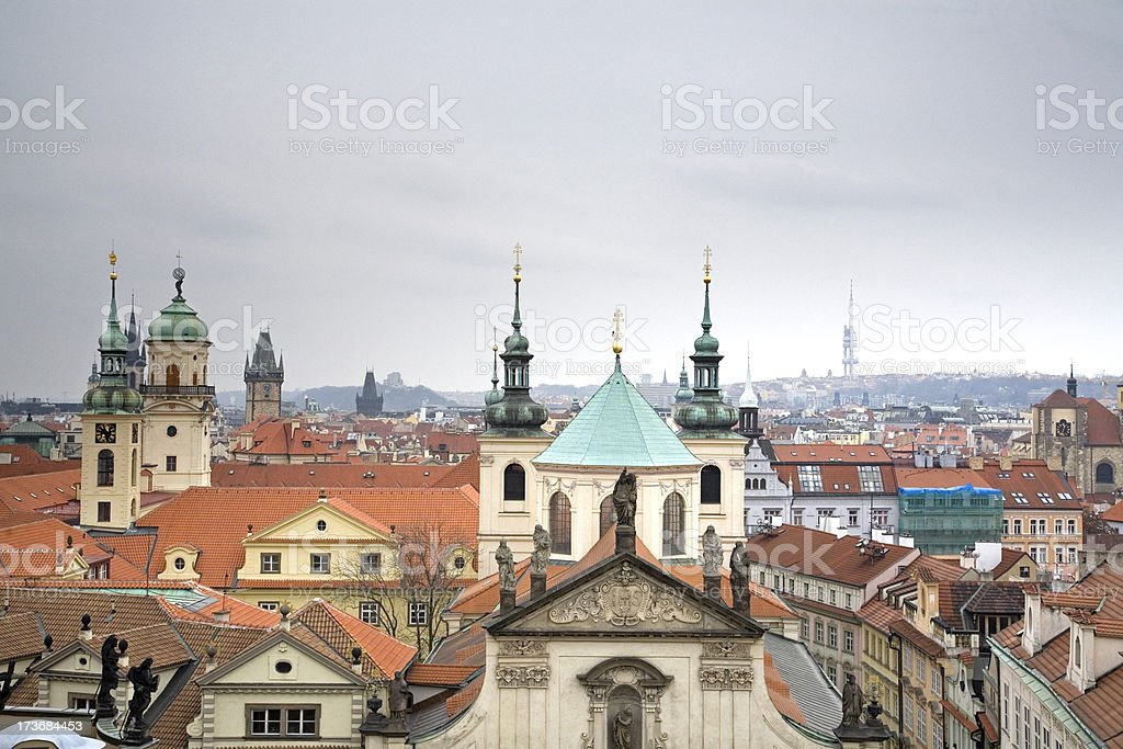 Rooftops of Prague royalty-free stock photo