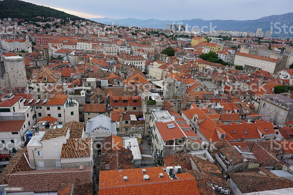 Rooftops of split royalty-free stock photo