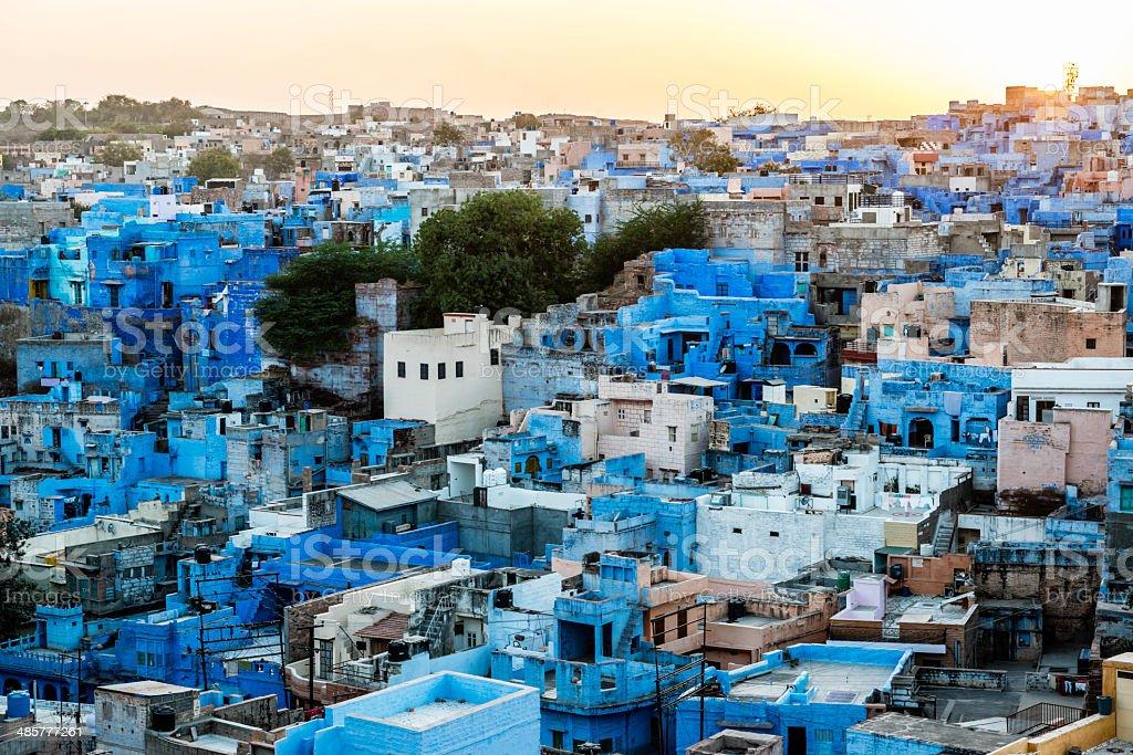 Rooftops of the Blue City, Jodhpur stock photo