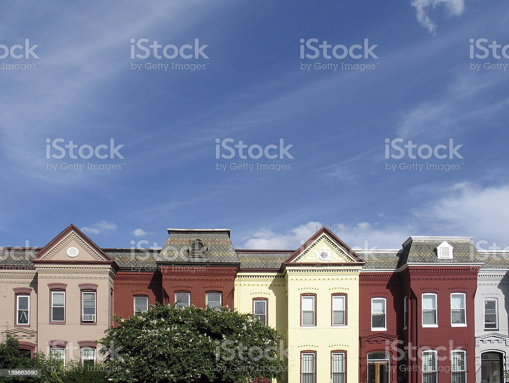 DC rooftops stock photo