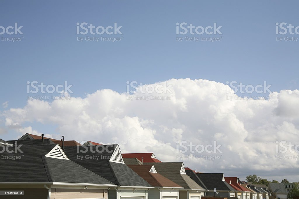 Rooftops royalty-free stock photo