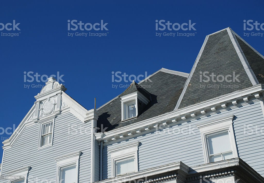 Rooftops Shapes and Detail royalty-free stock photo