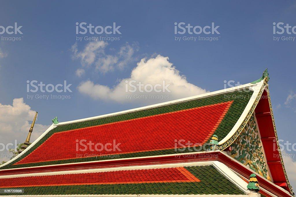 roof-wat pho-thailand stock photo