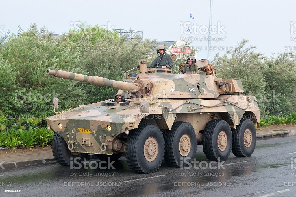 Rooikat 8x8 Wheeled Armoured Fighting Vehicle stock photo