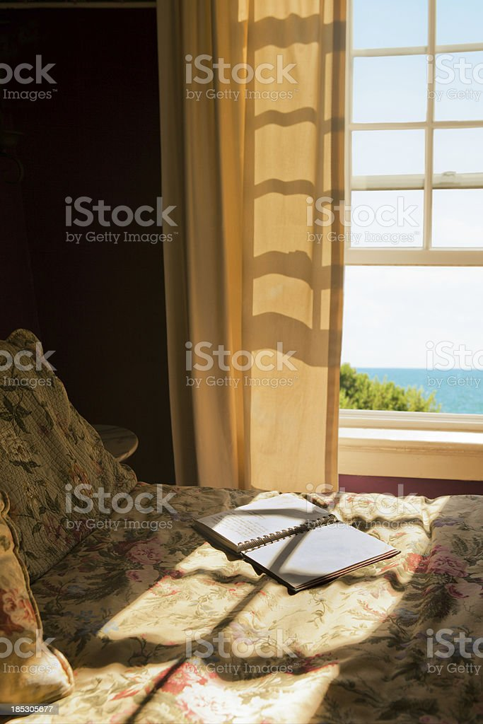 Room by the sea stock photo