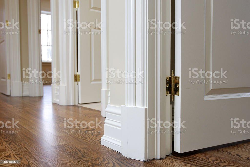 Room door trim stock photo