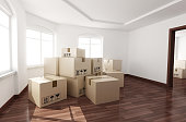 Room empty and box