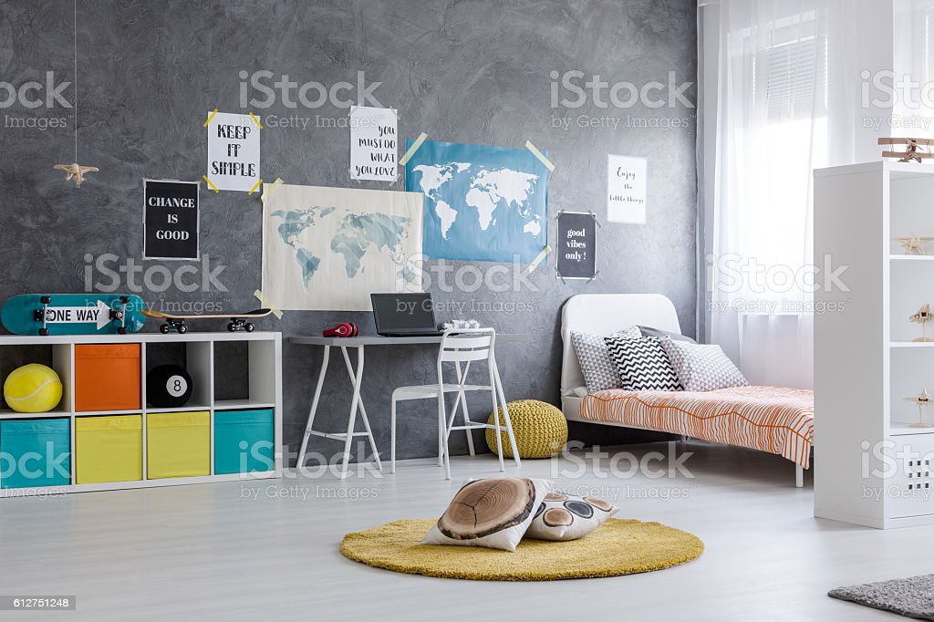 Room for a skateboarding fan stock photo