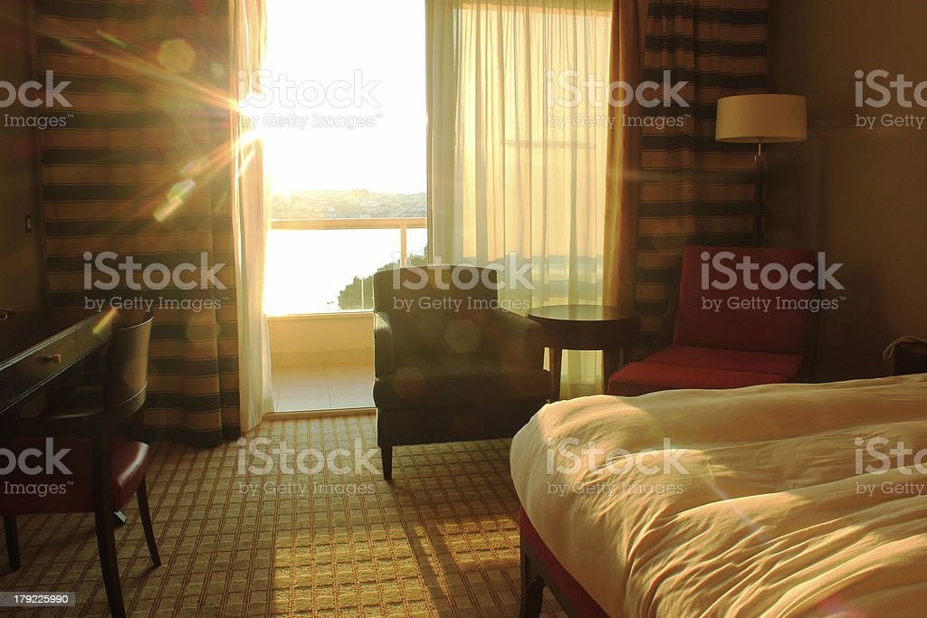 Room in luxury hotel stock photo