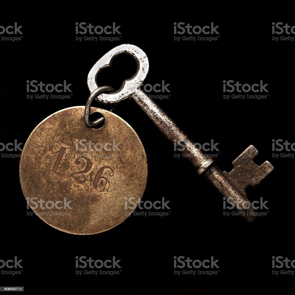 Room key #126 stock photo