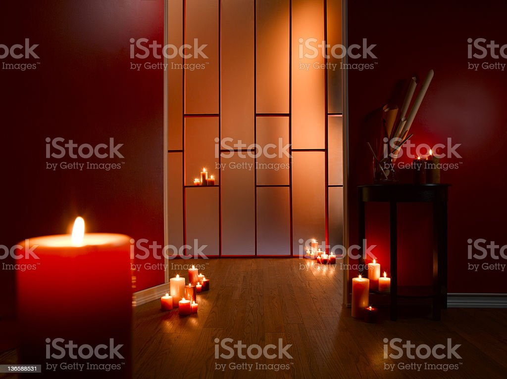 Room of Candles stock photo