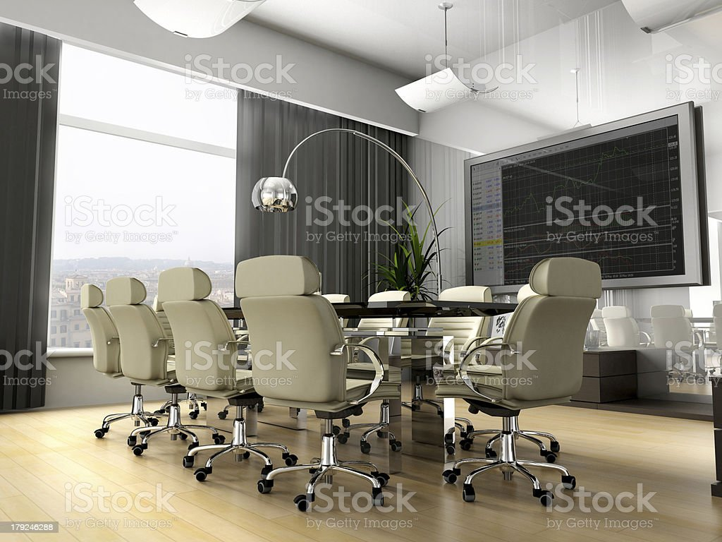 Room of negotiation royalty-free stock photo