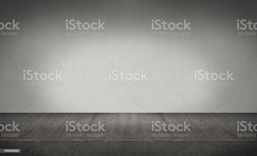 Room out of concrete royalty-free stock photo
