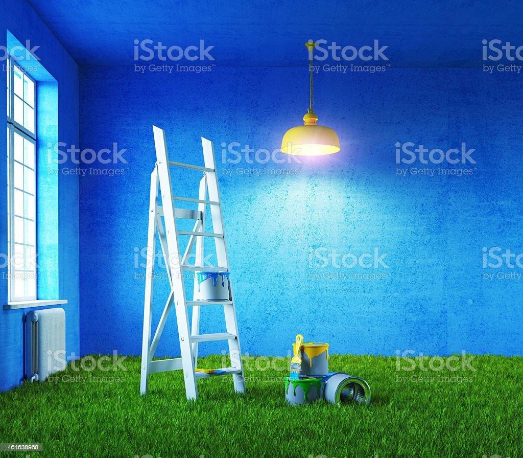 room painting stock photo