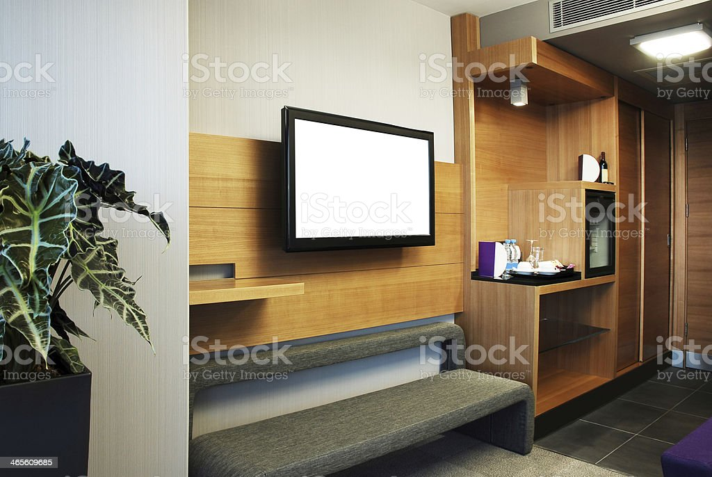 TV Room (Screen+Clipping Path) stock photo