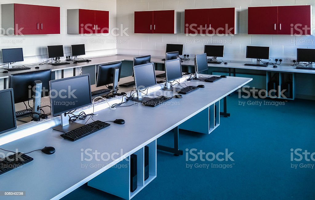 PC Room stock photo