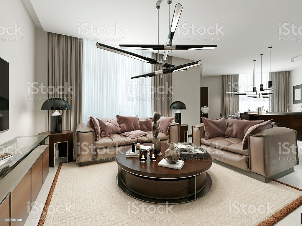 Room studio in a modern design. stock photo