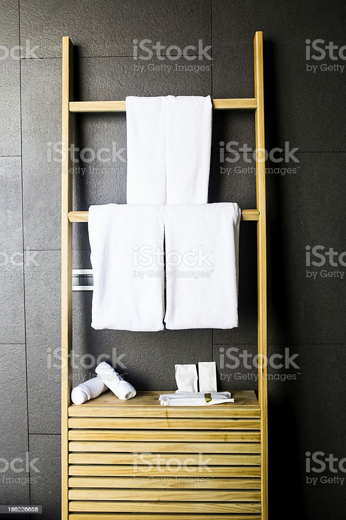 Room towel stock photo
