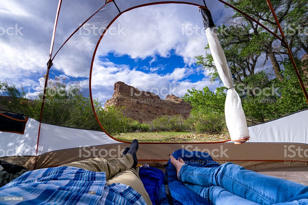 Room with a View Camping stock photo
