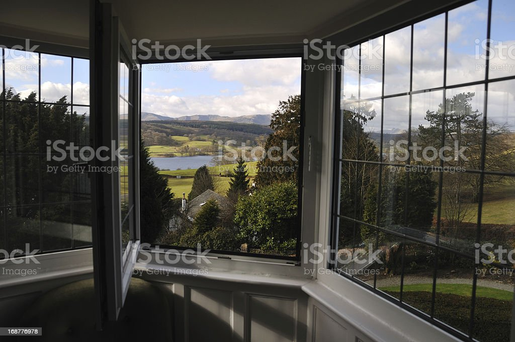 Room with a view. stock photo