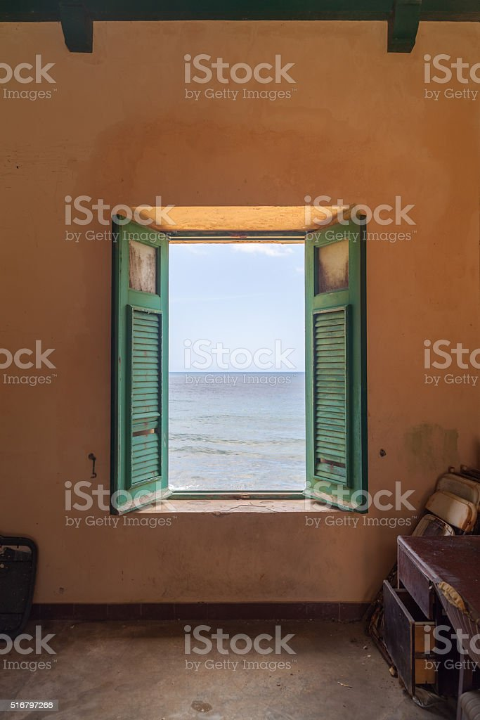 Room with a view stock photo