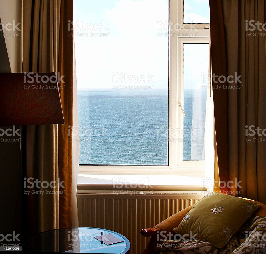 Room with an open view stock photo