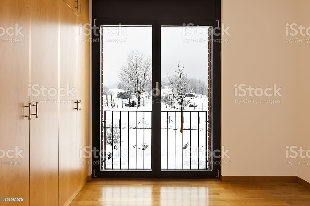 room with closet and window royalty-free stock photo