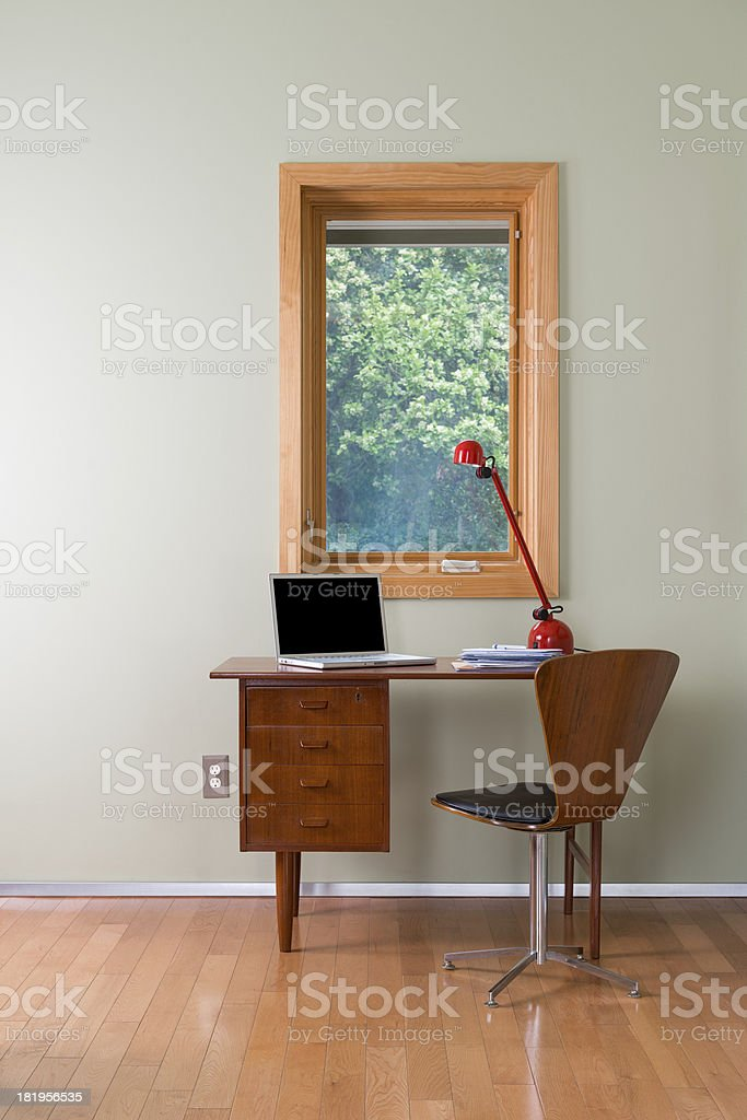Room With Desk And Chair royalty-free stock photo