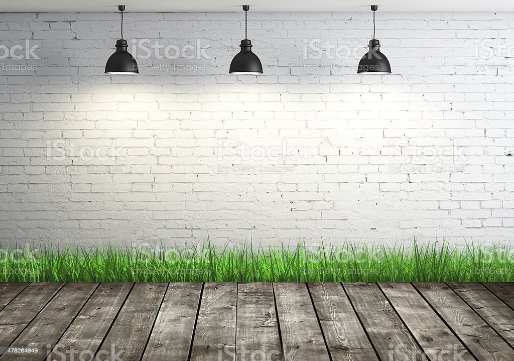 room with grass royalty-free stock photo