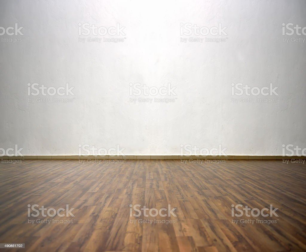 room with gray wall stock photo