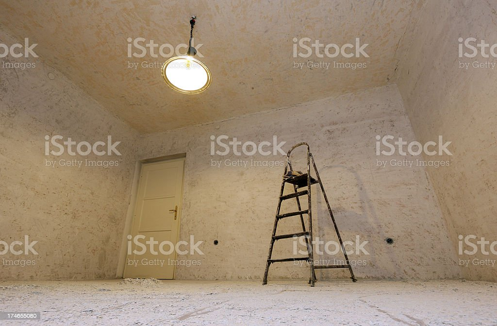 Room with ladder royalty-free stock photo