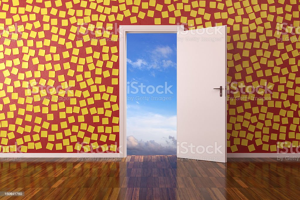 Room with post it royalty-free stock photo