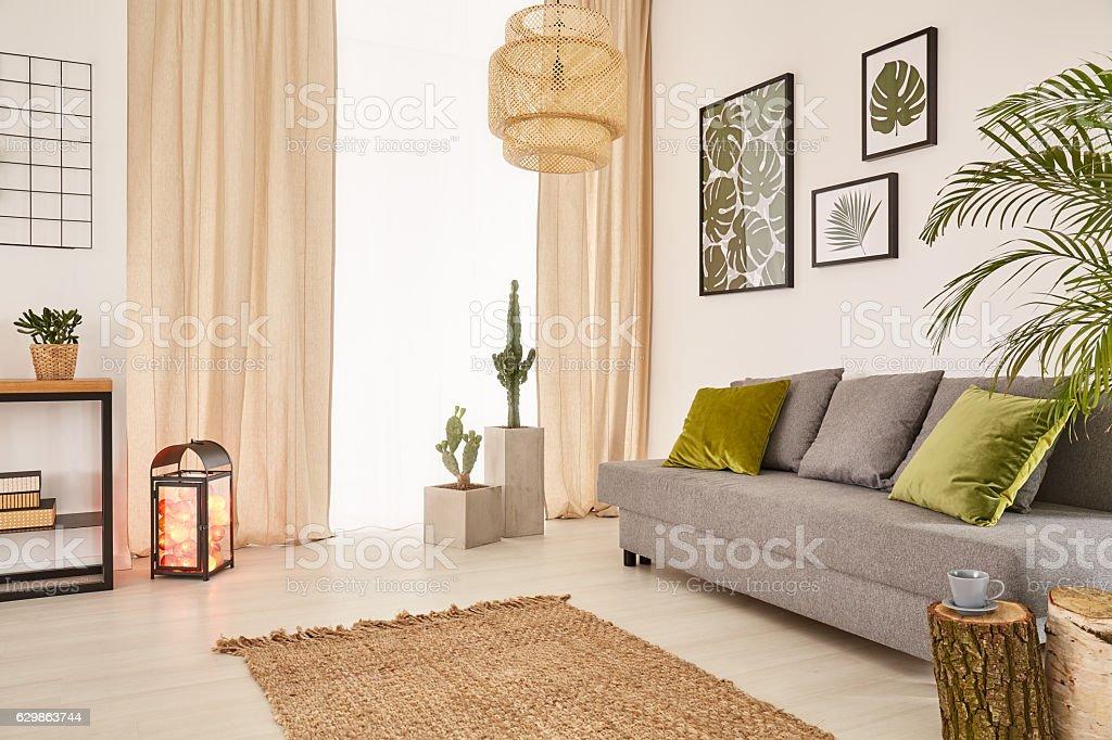 Room with sofa and window stock photo