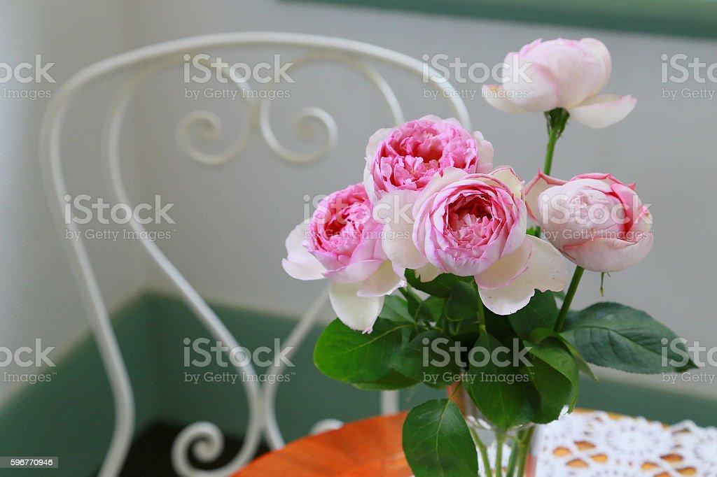 Room with the flower foto de stock libre de derechos