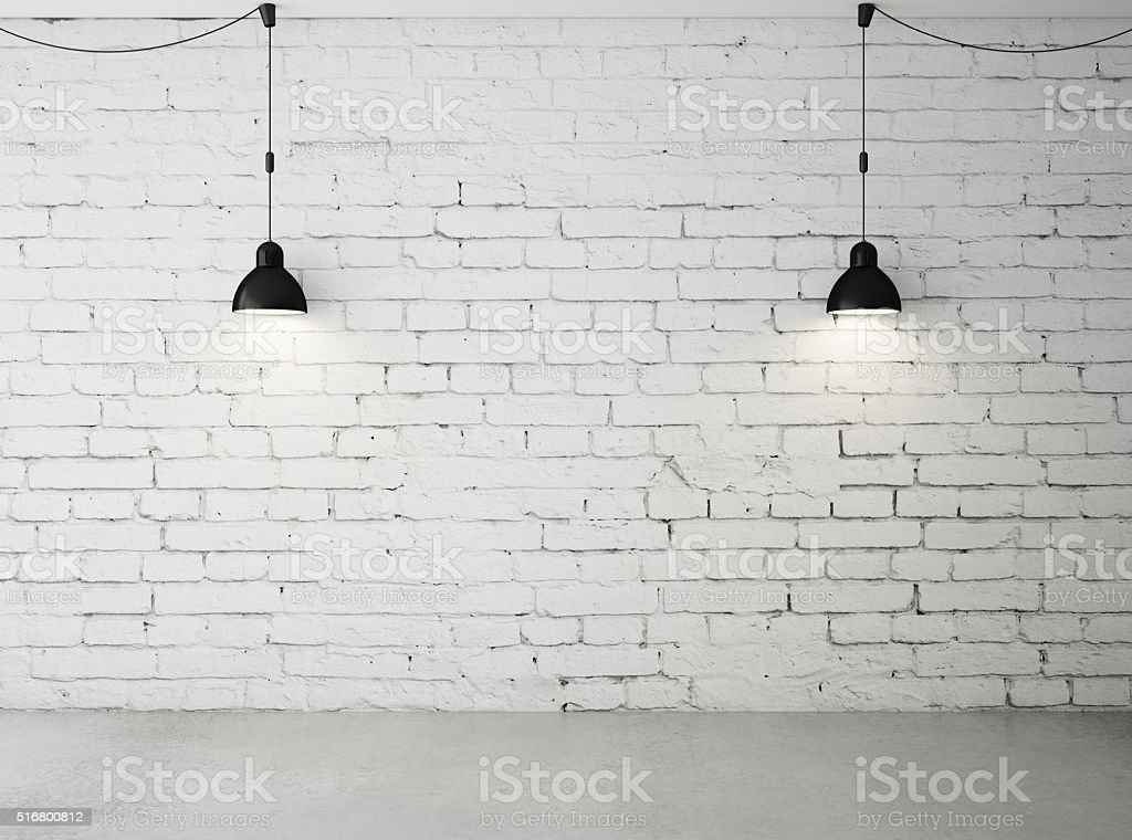 room with two lamps stock photo