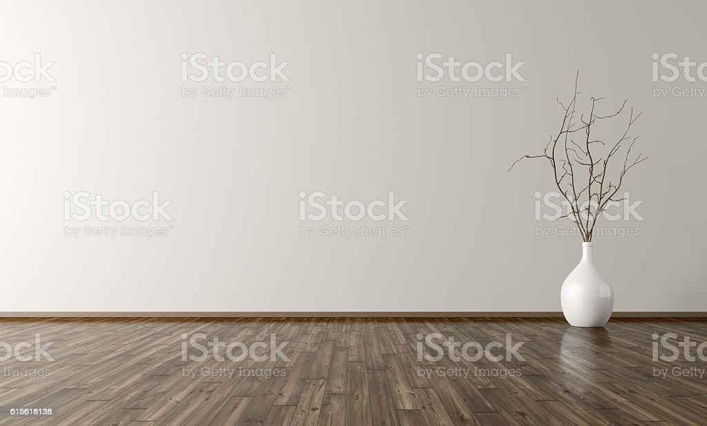 Room with vase interior background 3d rendering stock photo