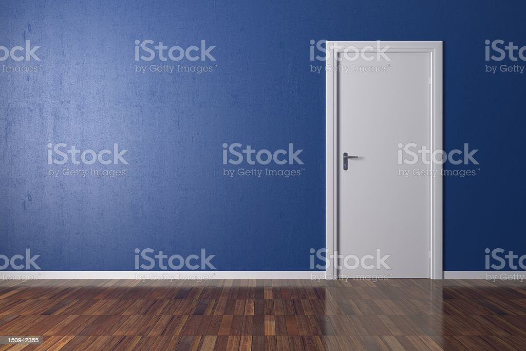 Room with white door royalty-free stock photo