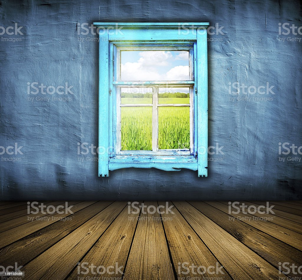 room with wooden floor and window royalty-free stock photo