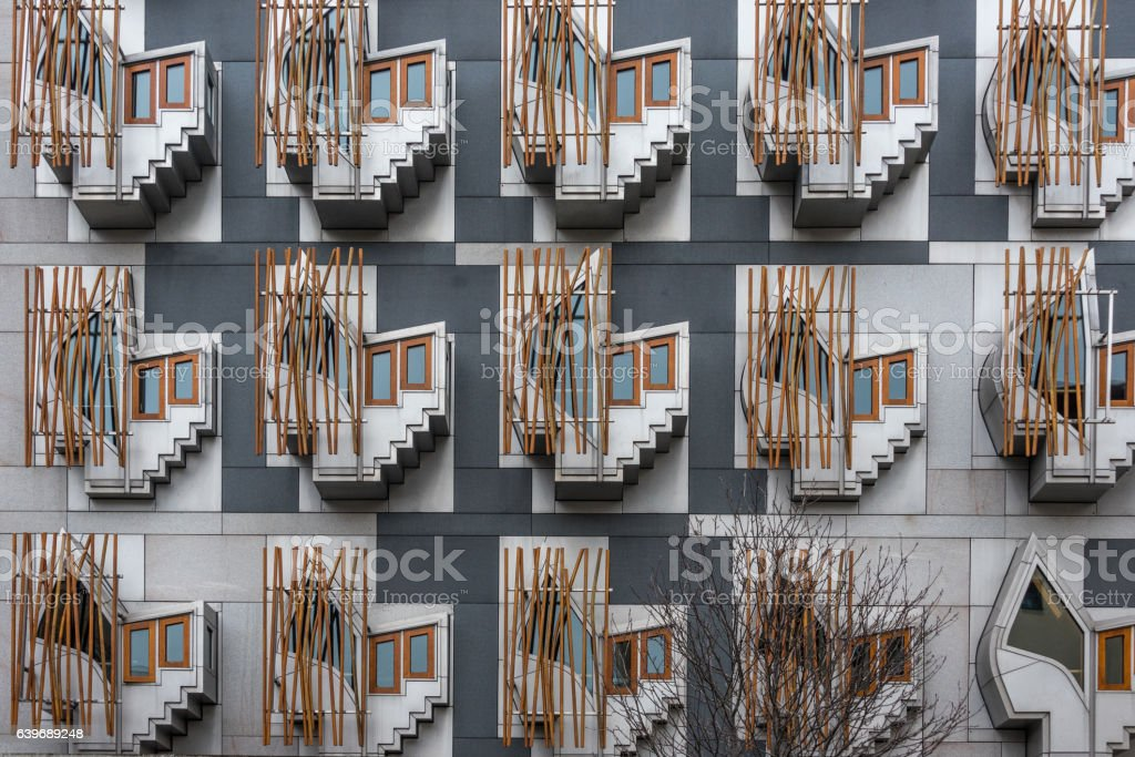 MSP rooms in Scottish Parliament building stock photo