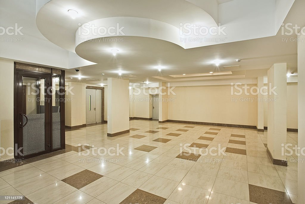 Roomy hall of modern residential building royalty-free stock photo