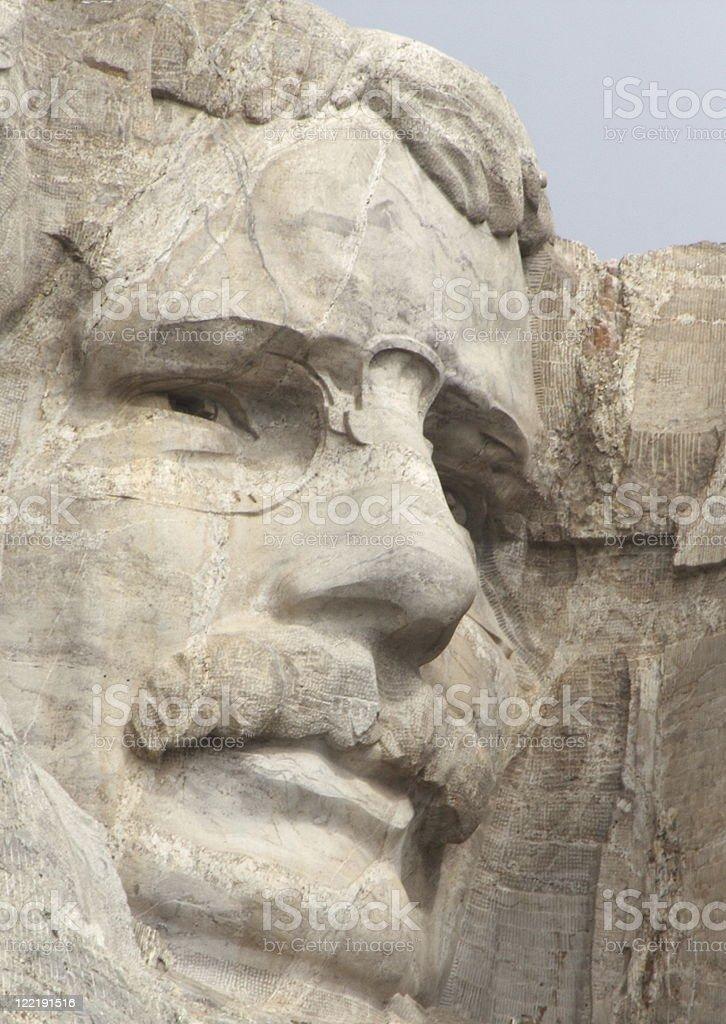 Roosevelt at Mount Rushmore stock photo