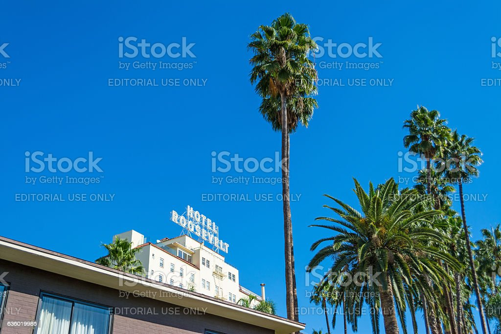 Roosevelt Hotel in Hollywood stock photo