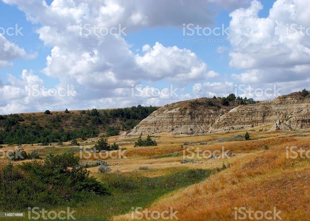 Roosevelt National Park badlands royalty-free stock photo