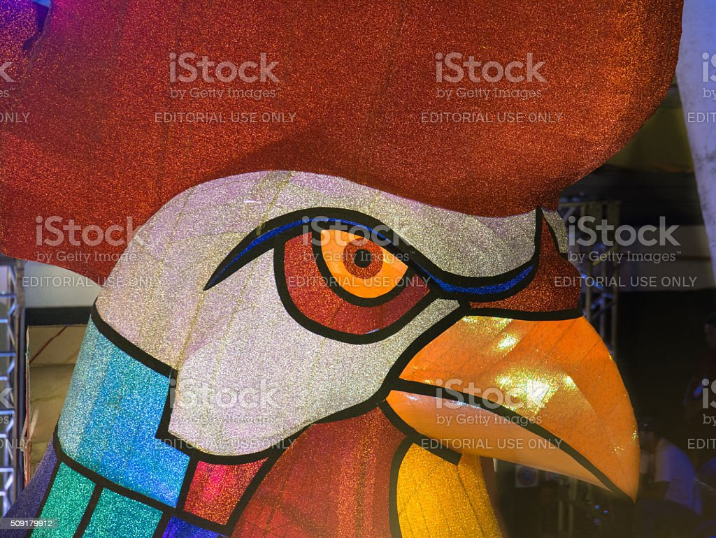 Rooster puppet stock photo