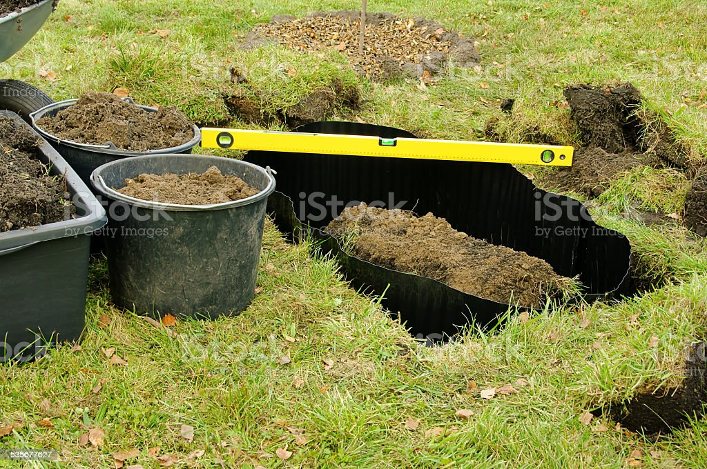 root barrier stock photo
