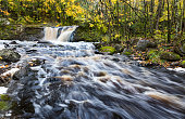 Root Beer Falls in Autumn. Upper Peninsula of Michigan