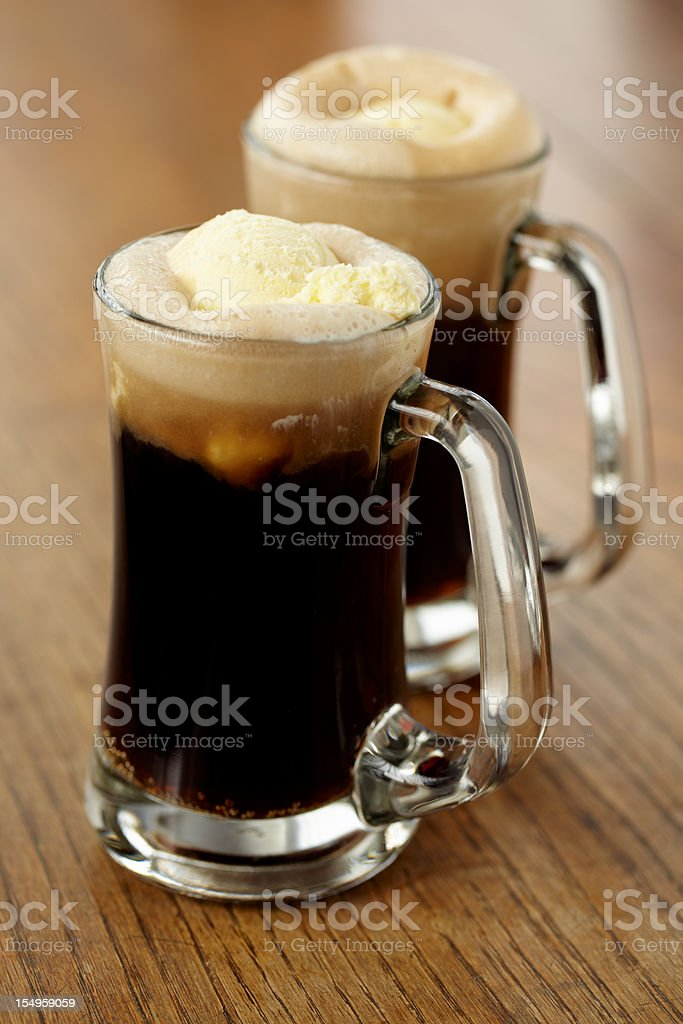Root beer float royalty-free stock photo